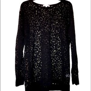 FOXCROFT sheer design sweater